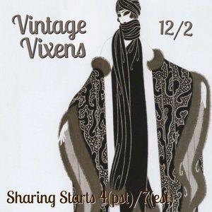 WEDNESDAY 12/2 Vintage Vixens Sign Up Sheet